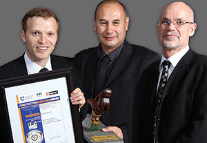 Award-winning Road Science line up (from left): Anthony Stubbs, technical service engineer; Dr Greg Arnold, technical manager pavement; and Gra¬ham Mudgway, laboratory inspector. Road Science won the category 5 – Excellence in the maintenance and management of assets in the 2014 Hirepool Construction Excellence Awards. Specifically, Road Science won the award for its NZTA East Waikato Maintenance Contract: Pavement Renewals, Waikato. Developed from Dr Greg Arnold's doctorate studies and NZ Transport Agency research conducted over the past 15 years, the design, investigation and performance material testing using Repeated Load Triaxial and Flexural Beam Tests are considered the most advanced in the world in the area of granular and stabilised pavements.