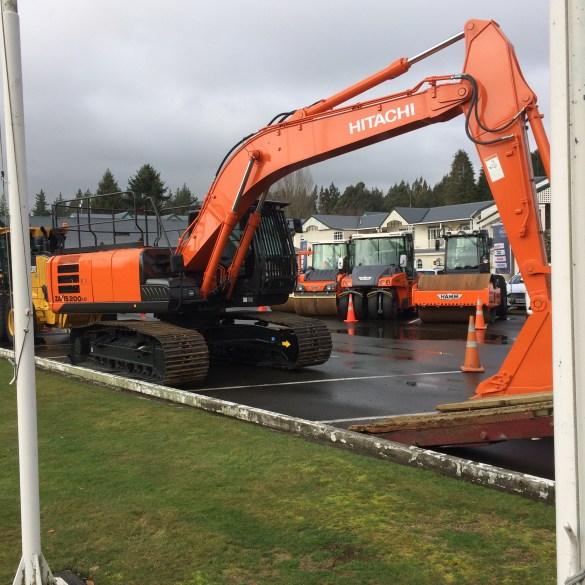 An Hitachi excavator