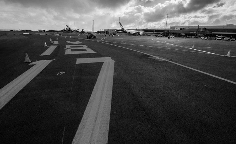 a thin black line asphalt