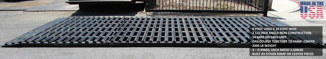 Rattle Grate shakes the tires, removing dirt, mud, and other debris from the tires of your vehicles as you exit the jobsite.