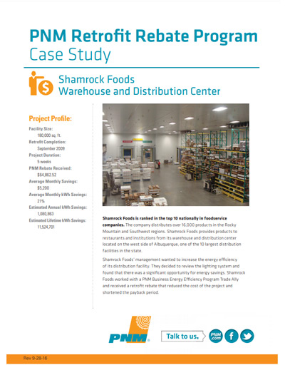 Shamrock Foods Warehouse and Distribution Center Case Study