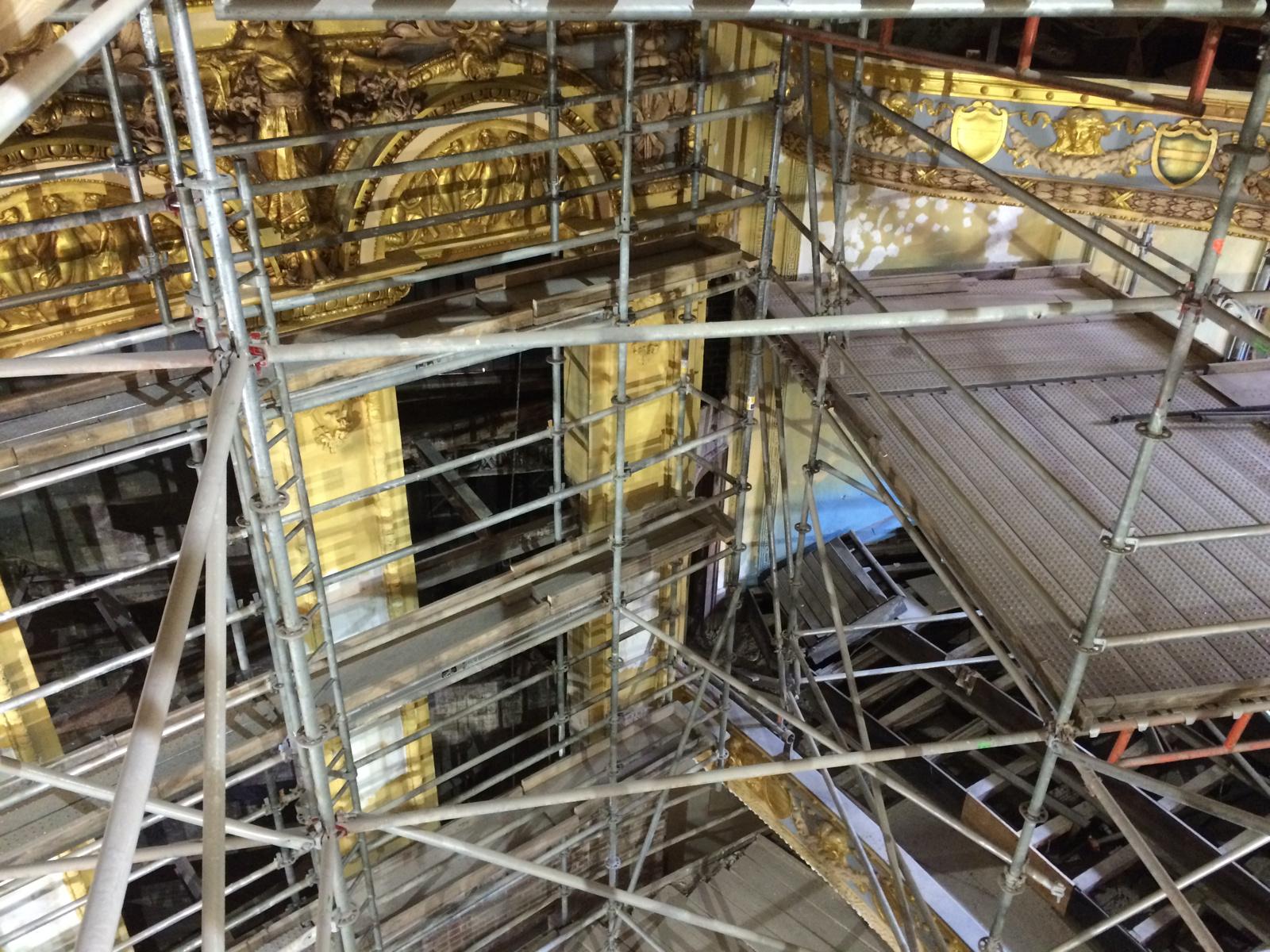 Lyric Theater scaffold