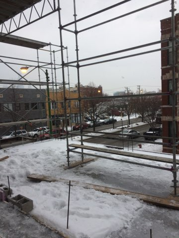 1605 W Ohio St winter enclosure scaffold 6