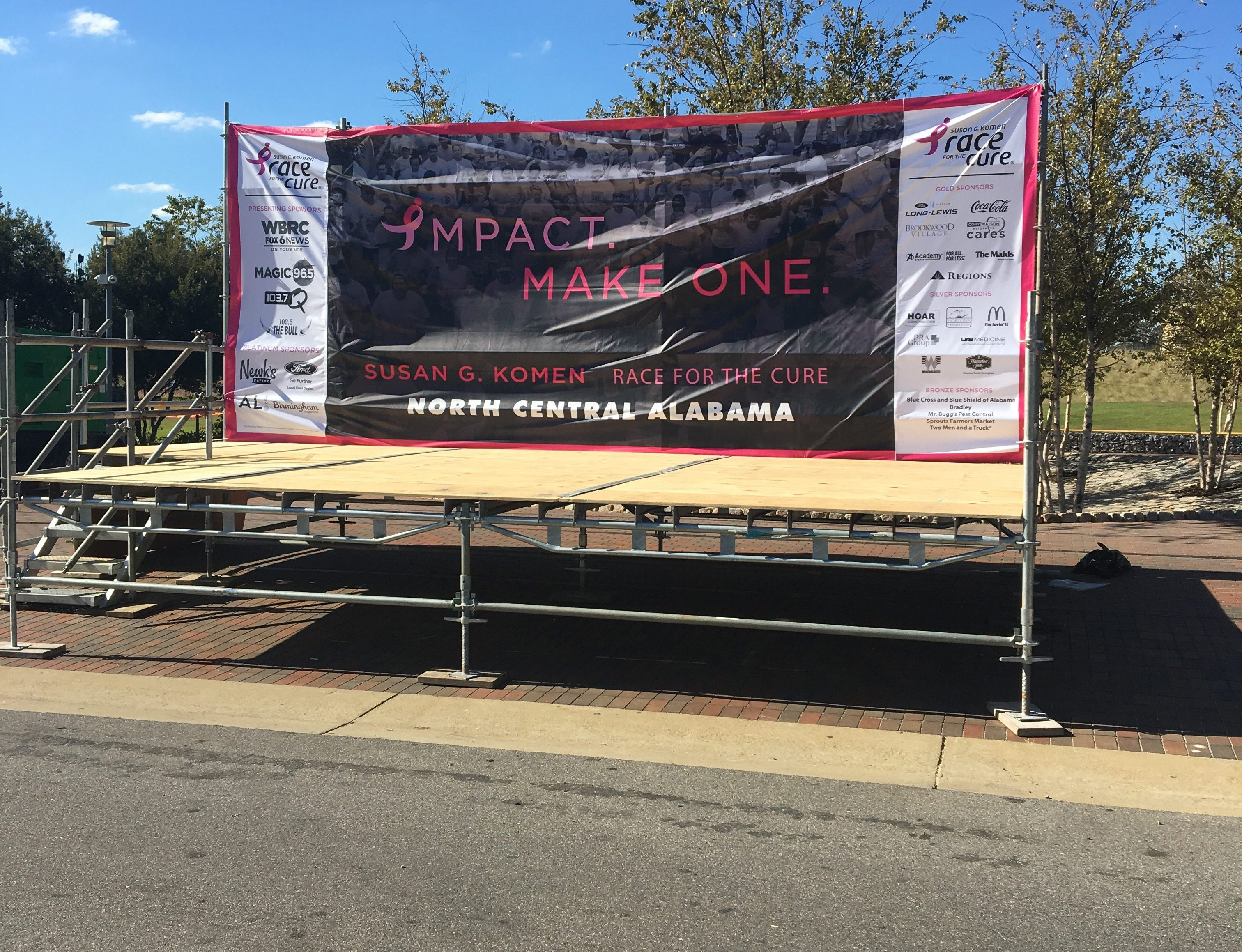 Race for the Cure scaffold stage 1
