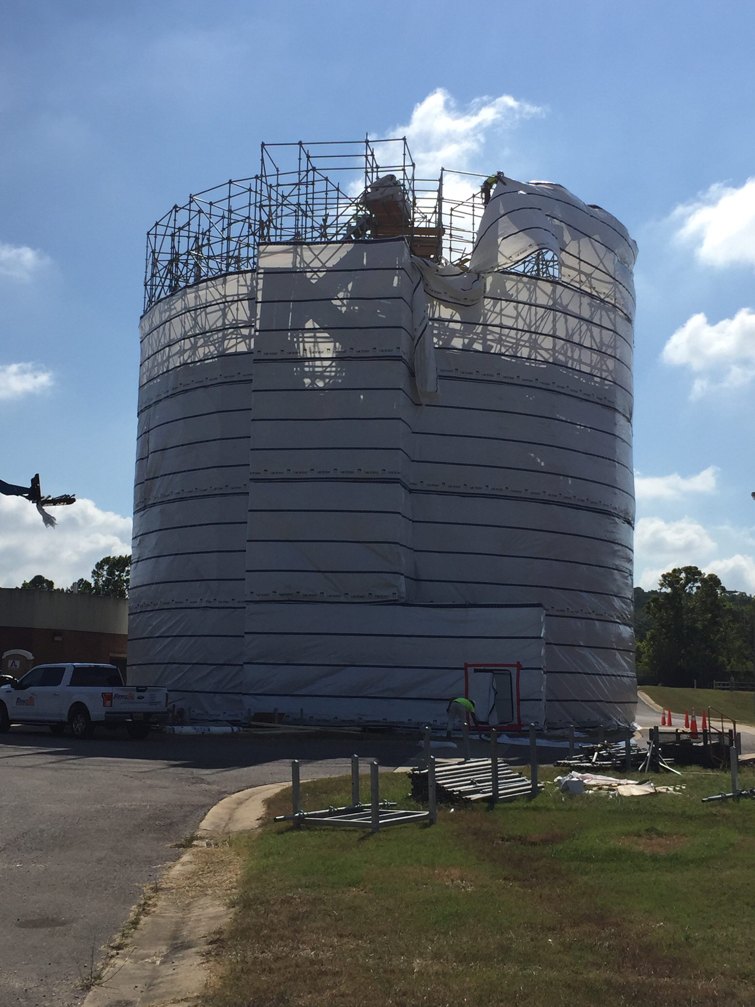 Round Sphere Tank scaffold 5