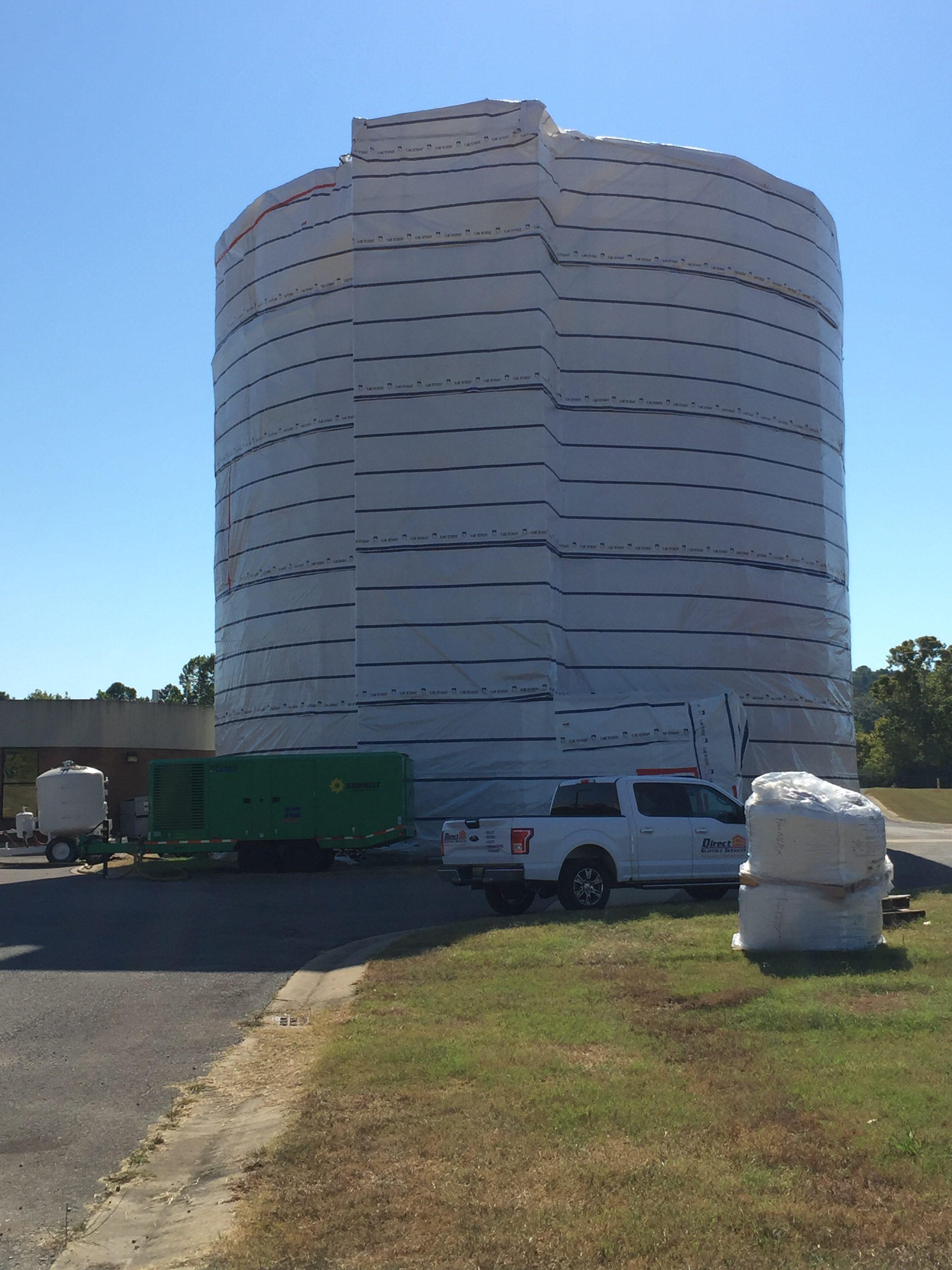 Round Sphere Tank scaffold 2