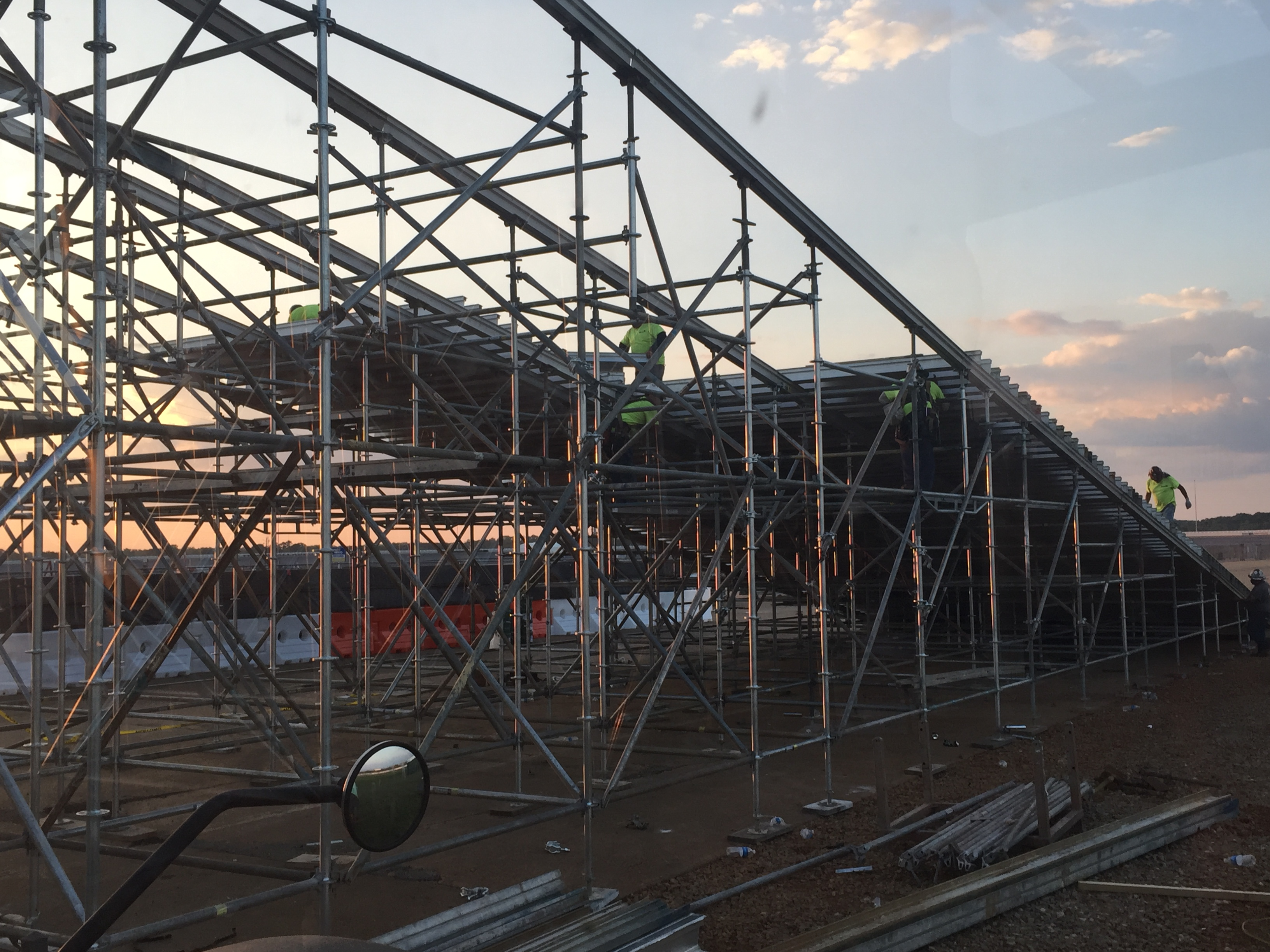 Talledega Superspeedway scaffold motorcycle ramp 4