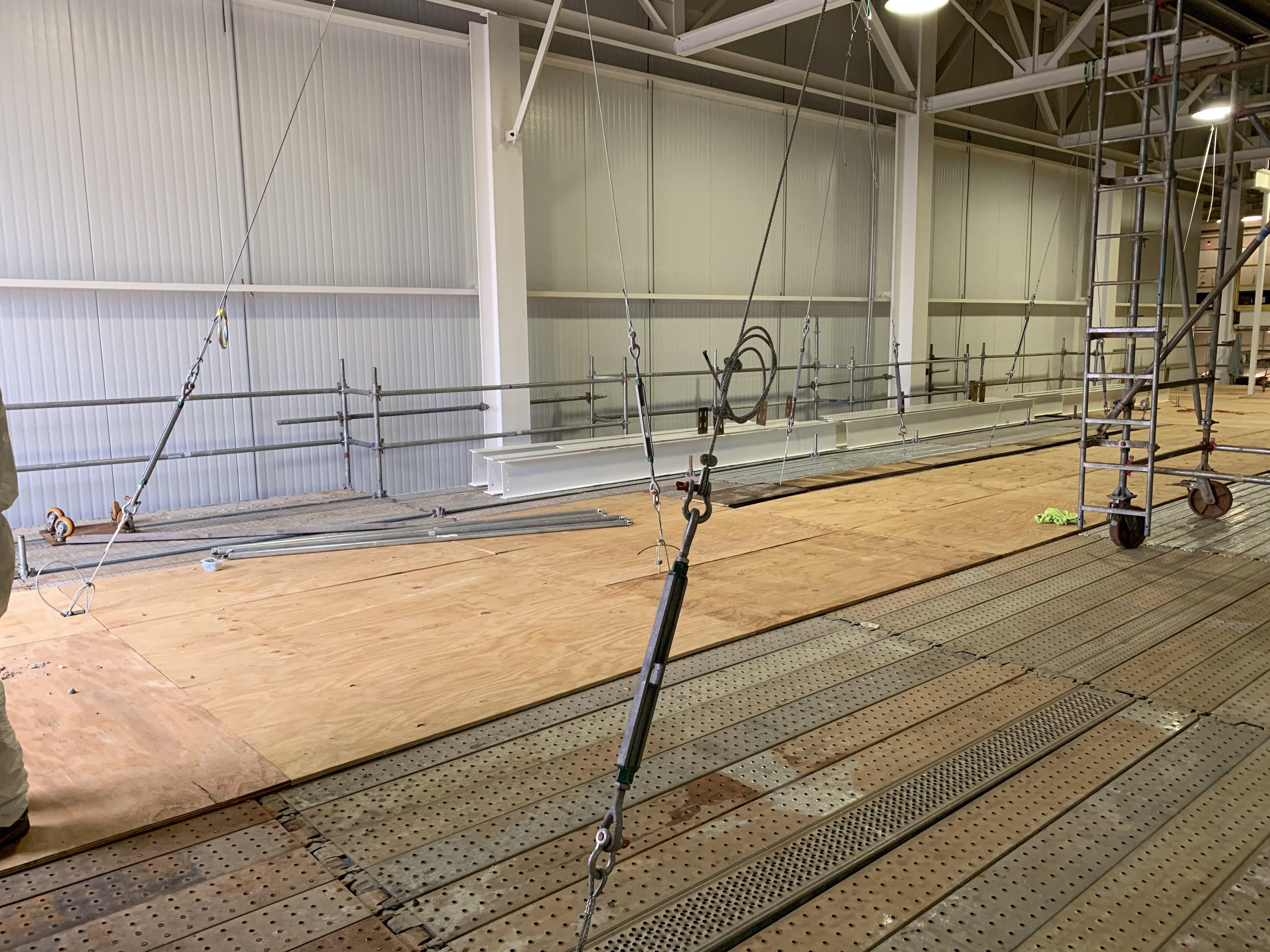 New Mezzanine in Industrial Plant scaffold 19