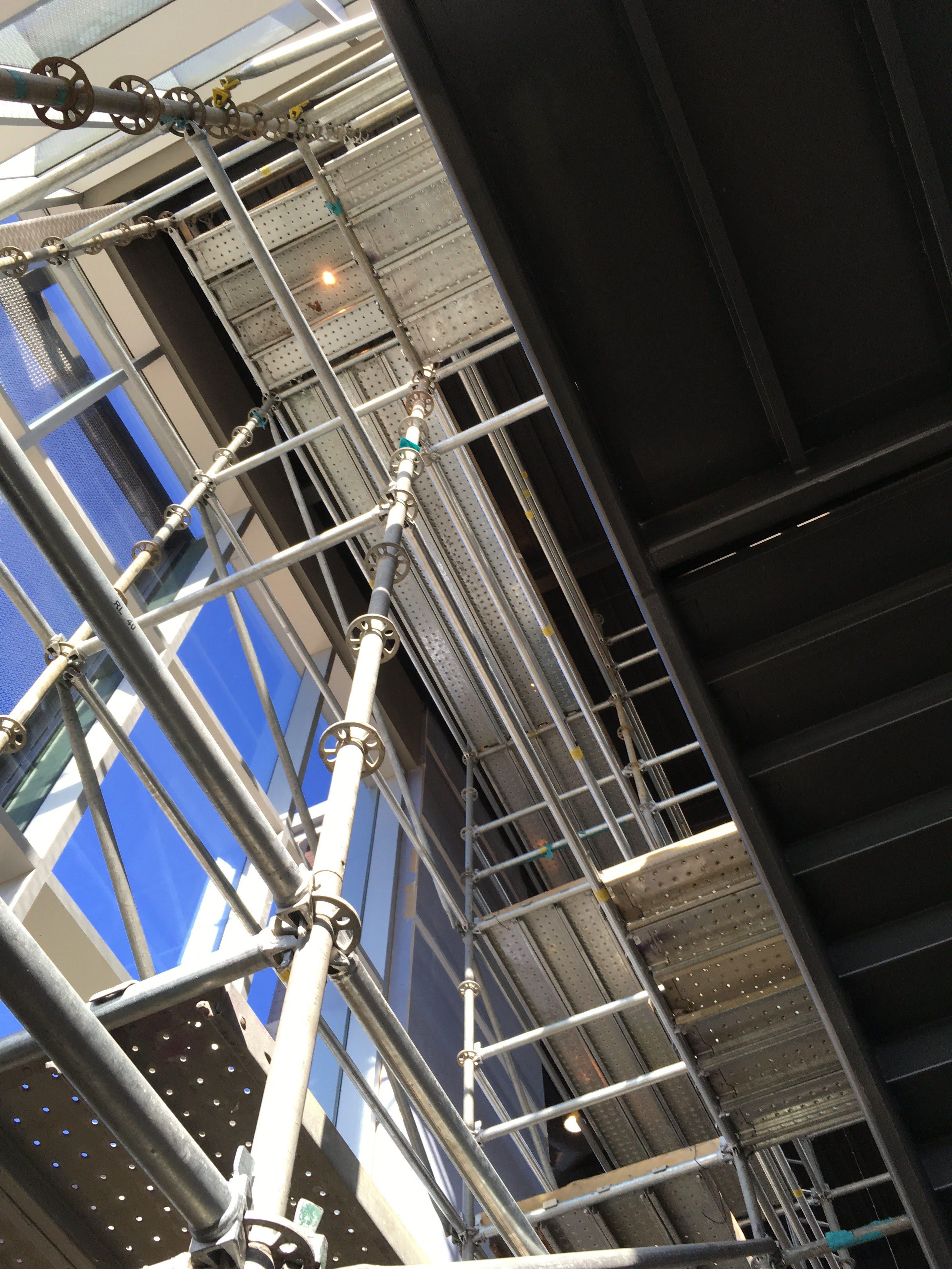 Top Golf Stairwell scaffold 4