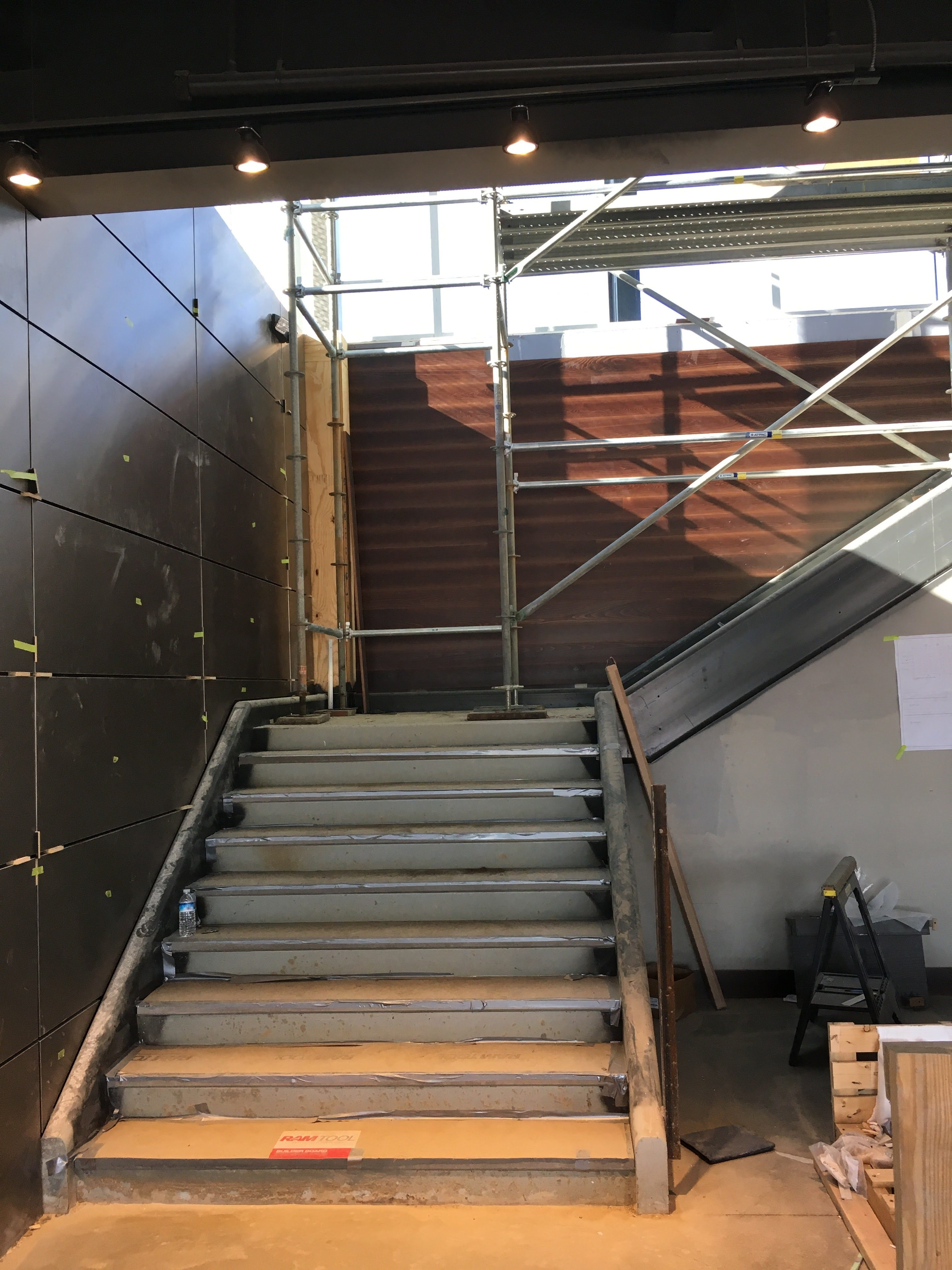 Top Golf Stairwell scaffold 2