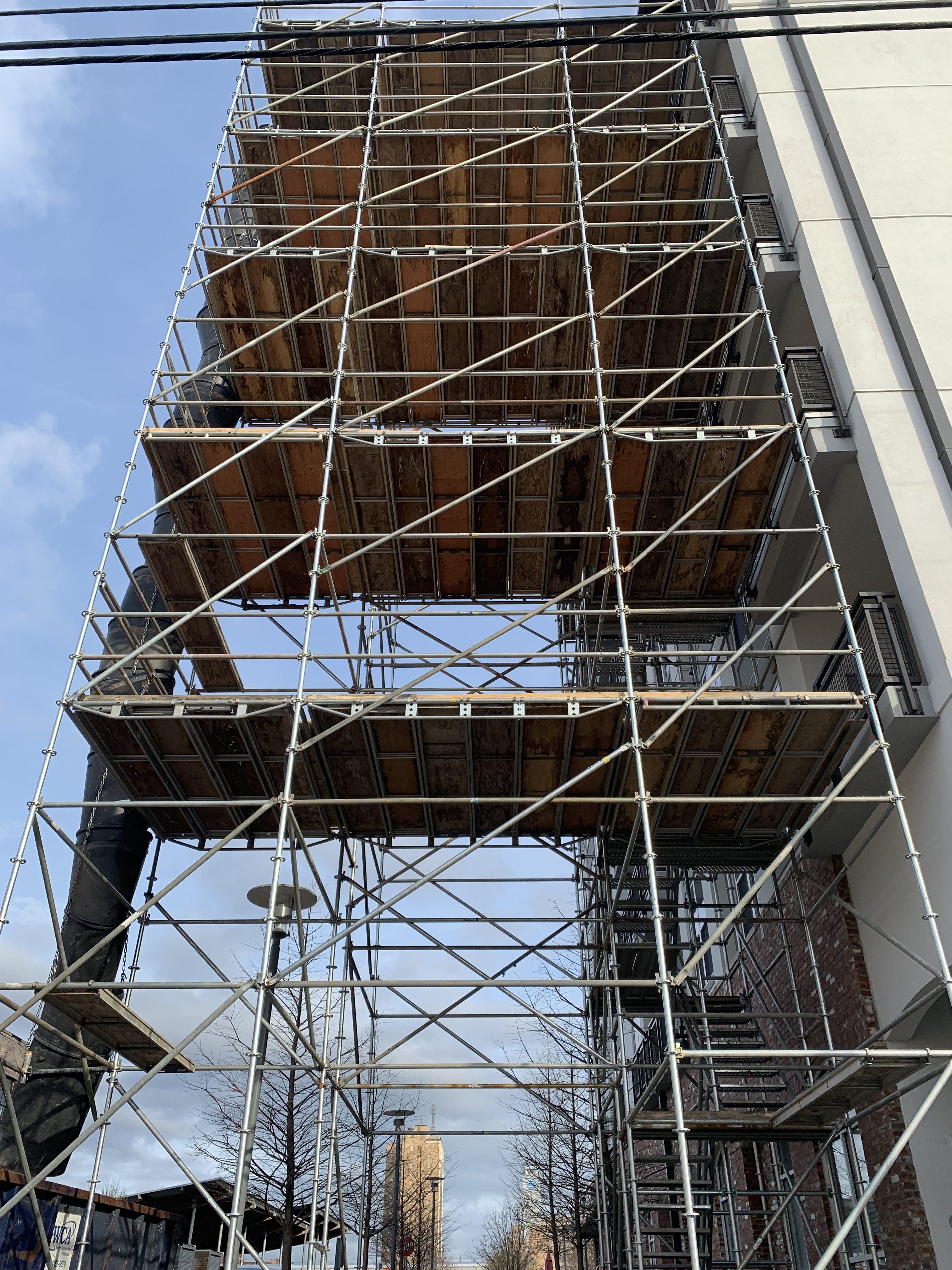 1st Ave S Condo Renovation scaffold 11