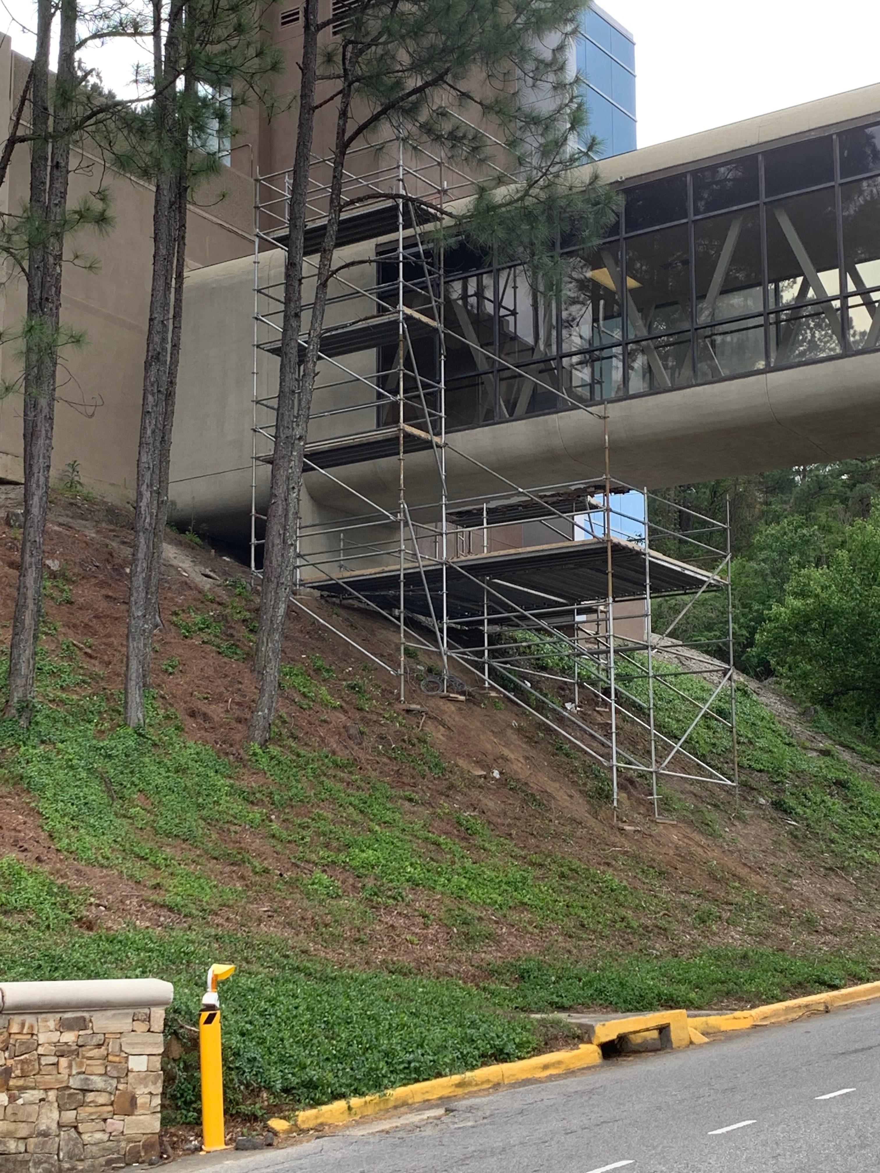 Brookwood Hospital scaffold 2