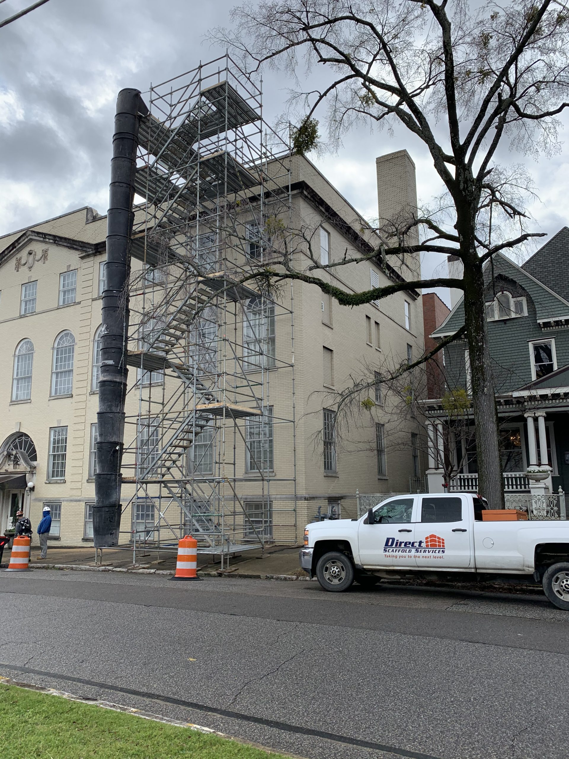 Southside Baptist Stair Tower and Trash Chute Scaffold 4