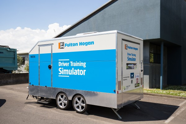 Fulton Hogan's new driver simulator