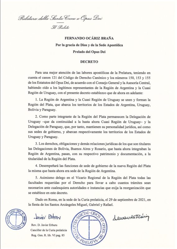 Decreto del Opus Dei / Imagen: elDiario.es