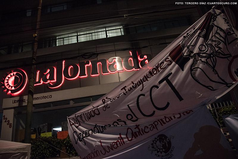 Periódico La Jornada en huelga