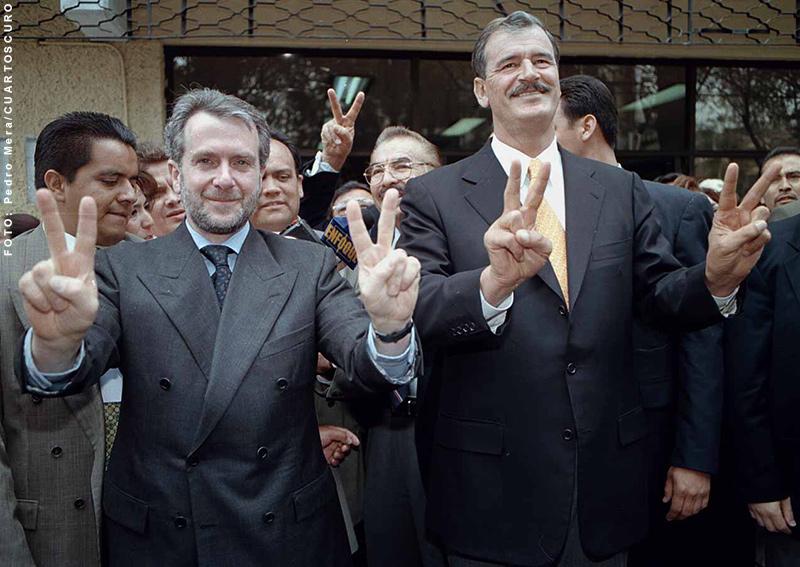 Santiago Creel y Vicente Fox