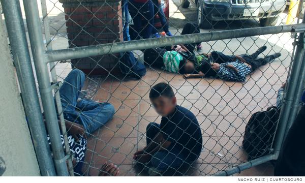 Imagen de niños migrantes en Tamaulipas