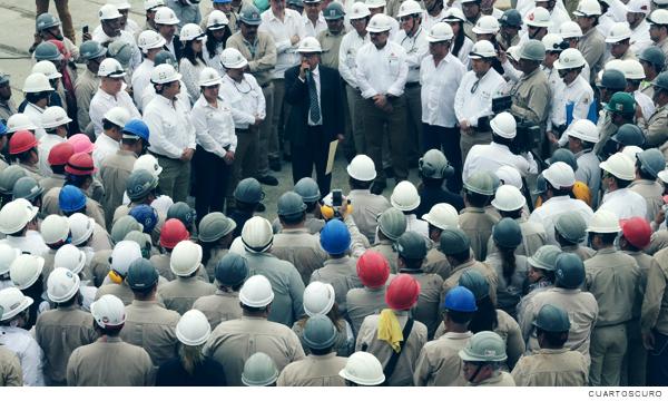 Trabajadores de Pemex