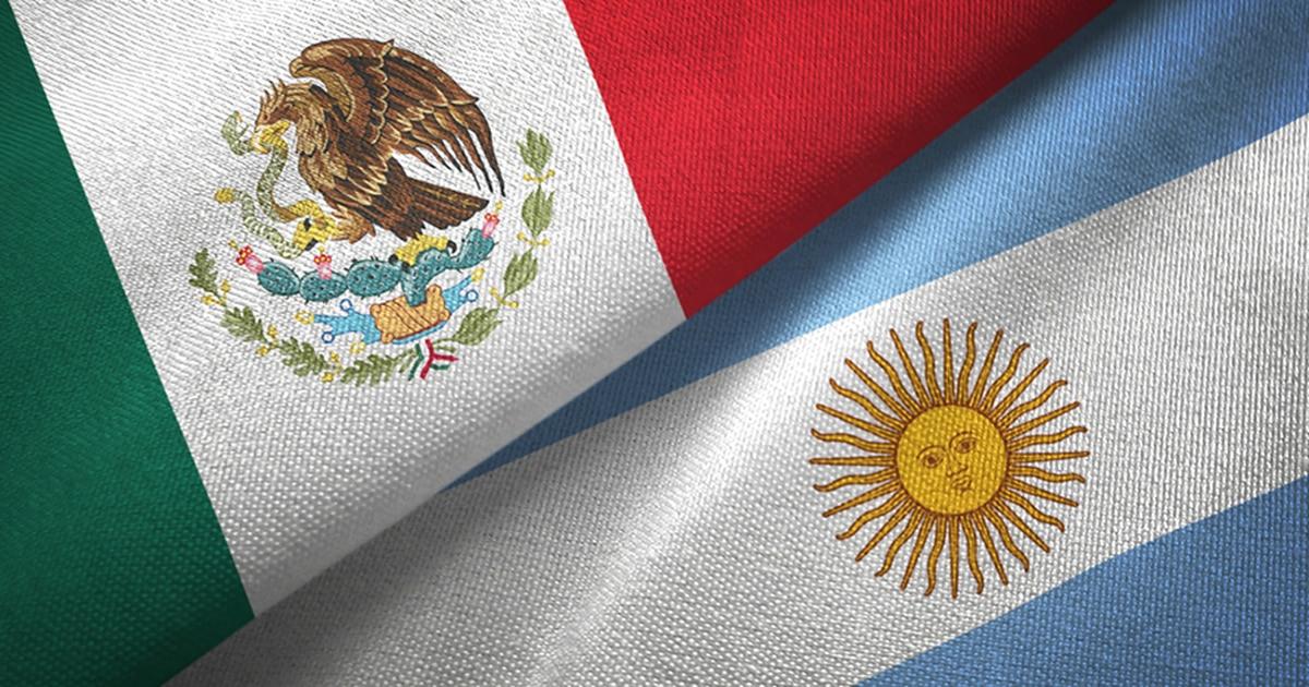 Bandera de México y Argentina