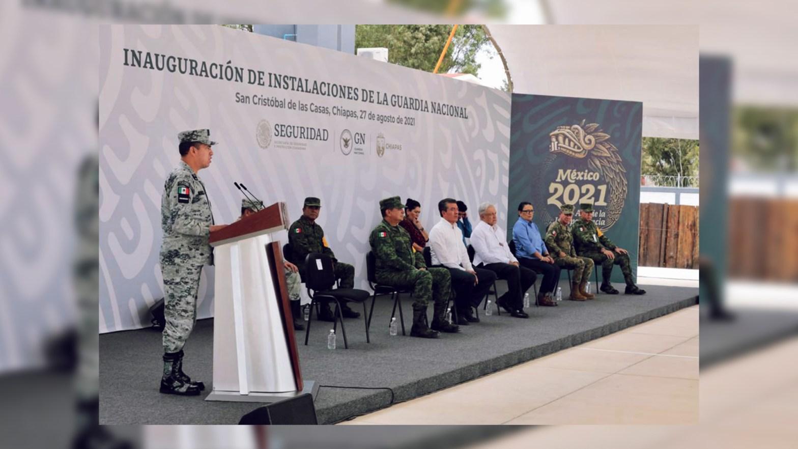 Andrés Manuel López Obrador inauguró el décimo cuartel en Chiapas de la Guardia Nacional