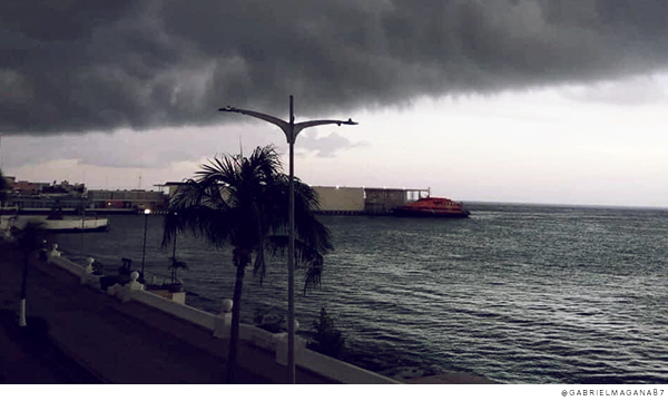 Llegada del huracán Grace