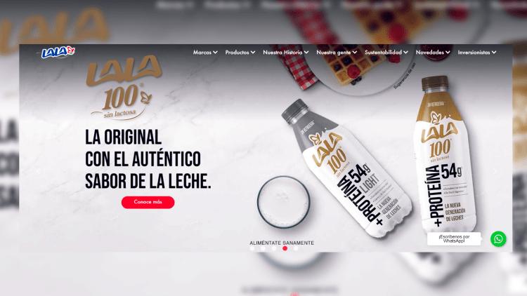 Imagen publicitaria de la empresa Grupo Lala