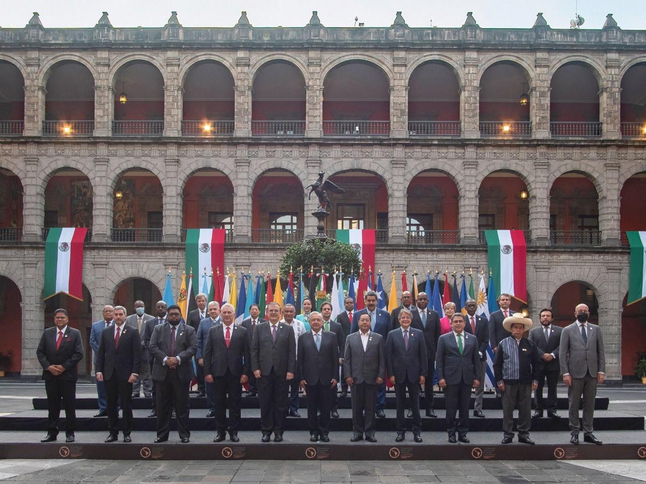 Andrés Manuel López Obrador, presidente de México, presidió la VI Cumbre de de la Comunidad de Estados Latinoamericanos y Caribeños (CELAC), llevada a cabo en Palacio Nacional.