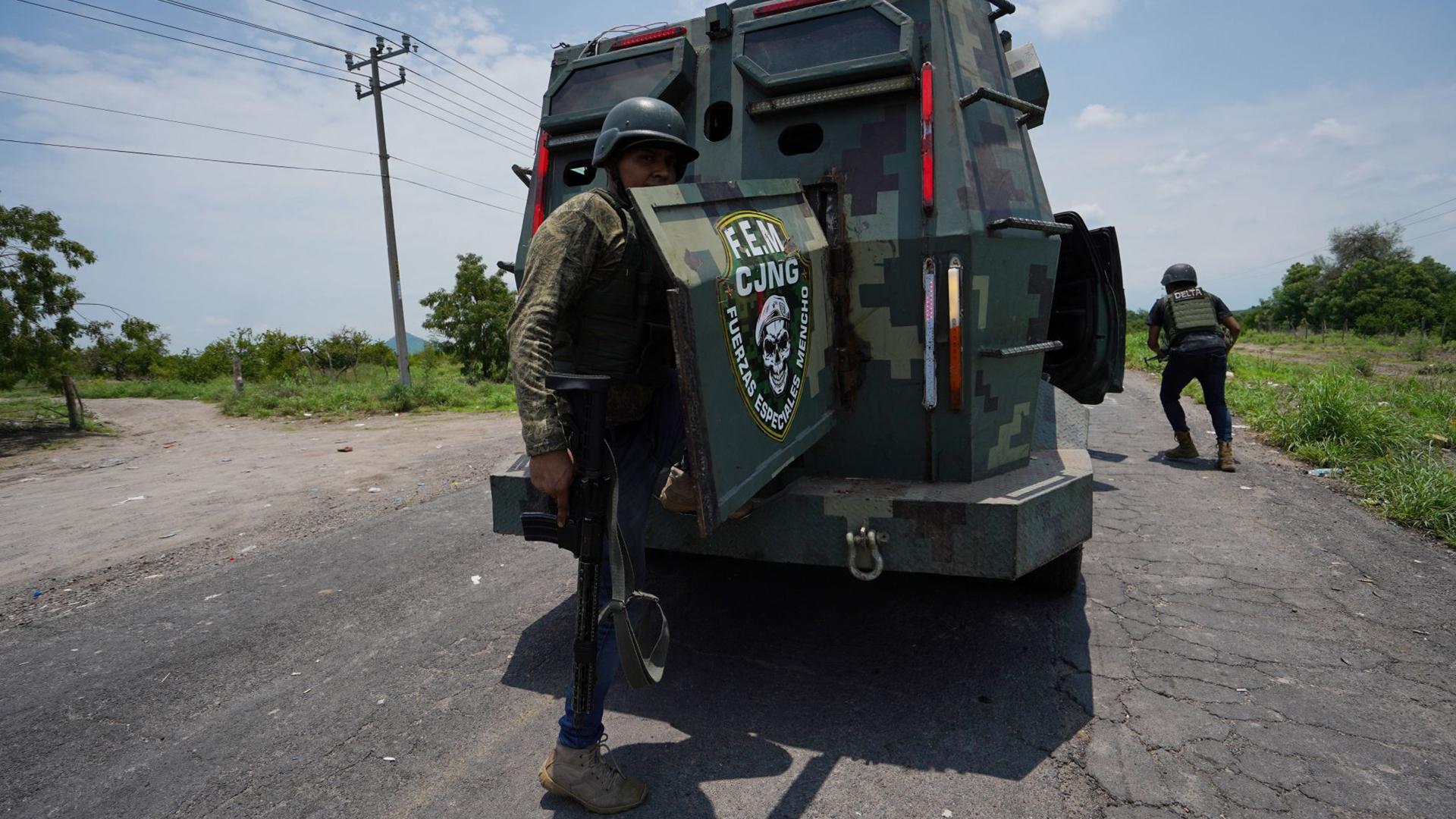 Imagen de un vehículo del Cártel Jalisco Nueva Generación