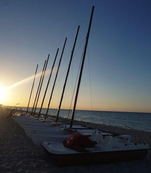 Praia de Varadero - ao longo da praia, perto do nosso Hotel