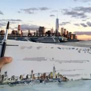 Greenwich Village drawing