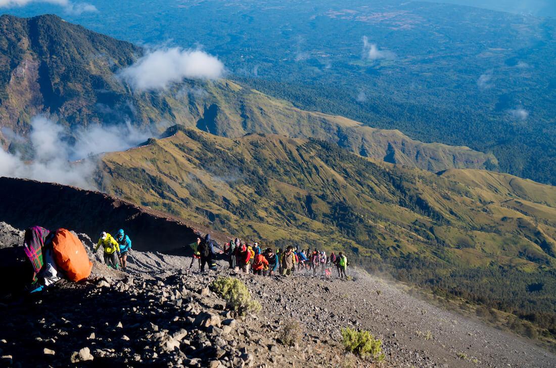 vulcao indonesia rinjani
