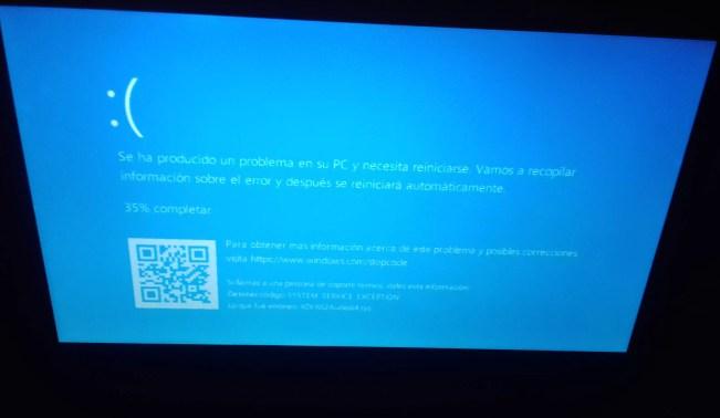 La actualización de Windows 10 de marzo está provocando pantallas azules, pero tiene solución