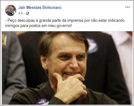 A ironia de Bolsonaro por ter indicado amigo para Petrobras