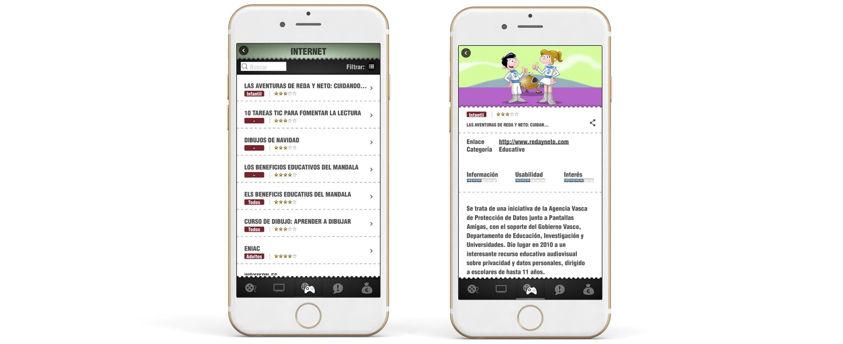 App Criticas Internet Contraste