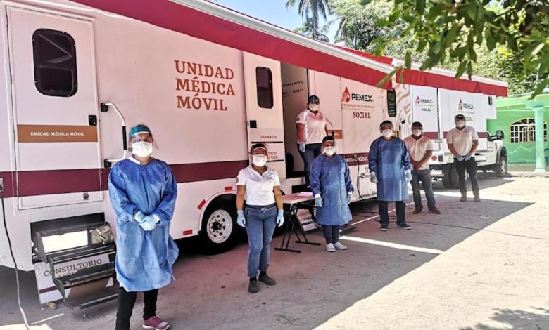 Photo of Envía Pemex unidades médicas a comunidades en apoyo a Sria de Salud del edo.