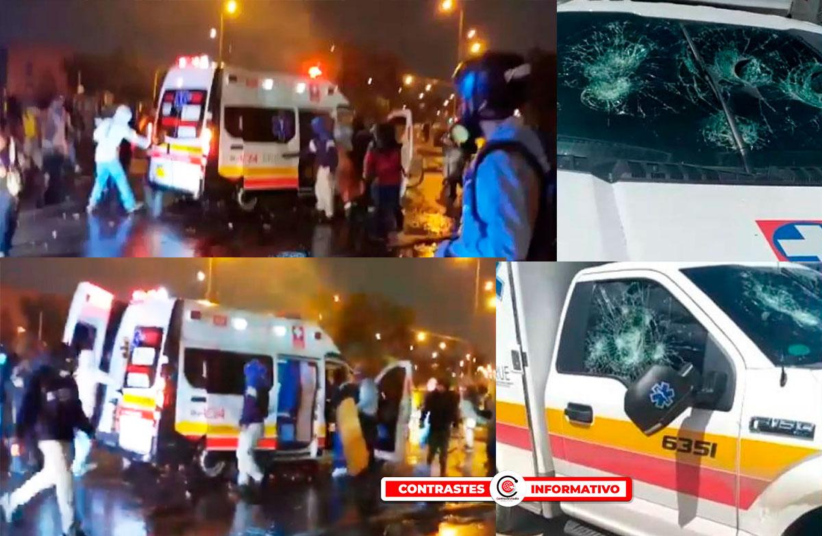 ambulancias vandalos
