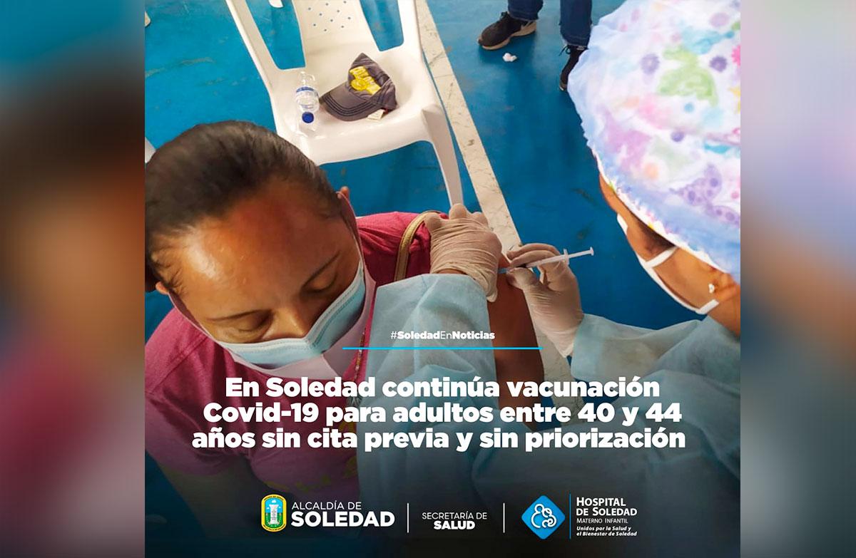 vacunacion soledad 40