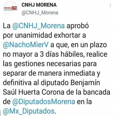 Morena pide separar de su bancada a Saúl Huerta acusado de abuso sexual | Contrastes de Puebla