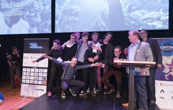 Vogelsap wint Best Student Game met The Flock
