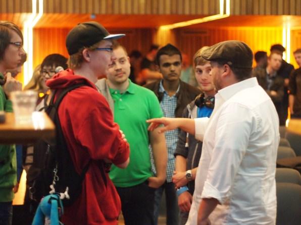Publiek met Tomas Sala