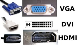 VGA, DVI & HDMI connectors