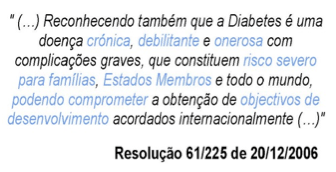 A Diabetes em Portugal e no mundo