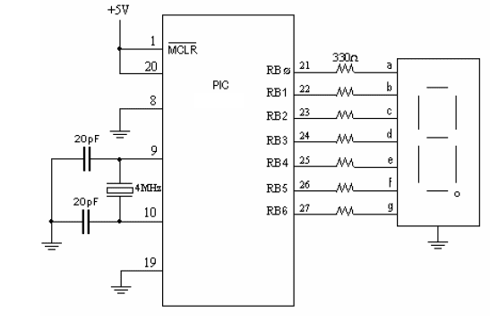 Conexion display catodo comun con pic