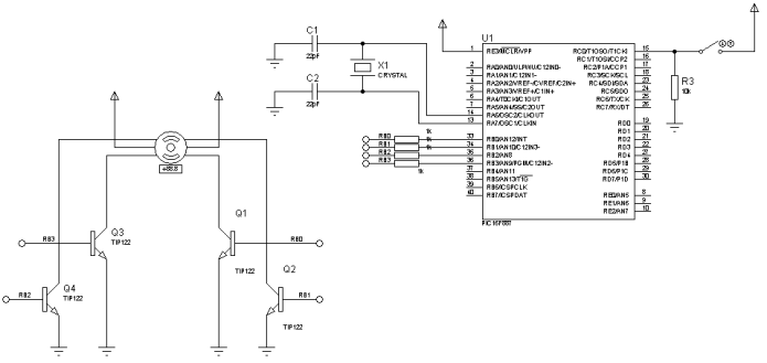 Ejemplo motor paso a paso unipolar