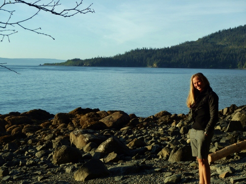 Enjoying a 10 pm beach walk after a long day of work