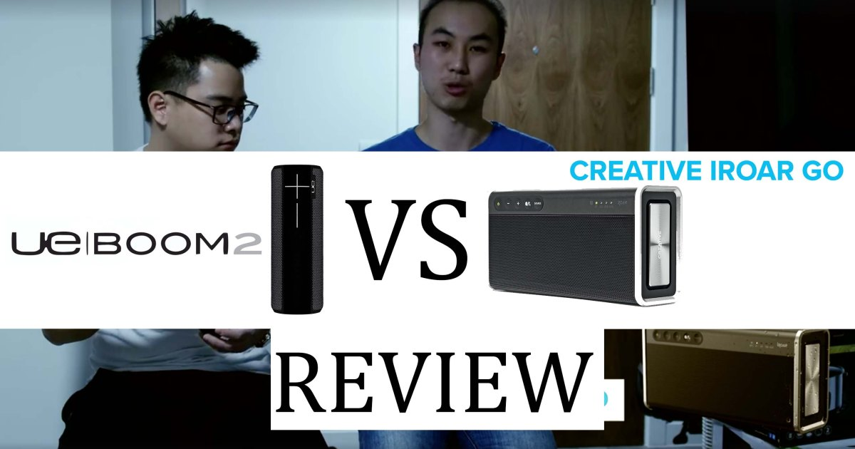 UE Boom 2 VS Creative Iroar Go Video Review