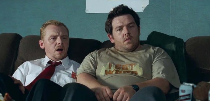 Shaun of the Dead film review Simon Pegg and Nick Frost