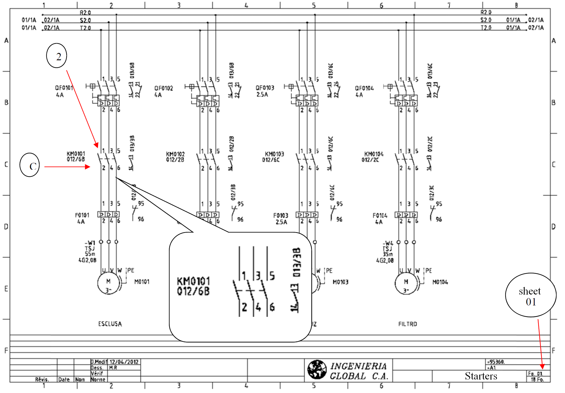 Cross Reference Electrical Drawings