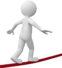 Equilibrio en delgada línea roja